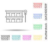roadside motel multi color...   Shutterstock .eps vector #1642400509