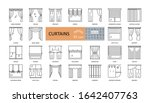 set window curtains 25 icons...   Shutterstock .eps vector #1642407763