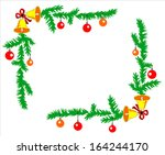 christmas image frames made  ... | Shutterstock .eps vector #164244170