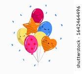 bunch of happy birthday... | Shutterstock .eps vector #1642464496