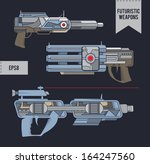 futuristic weapons. eps8. | Shutterstock .eps vector #164247560