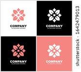 abstract elegant flower logo...   Shutterstock .eps vector #1642479013