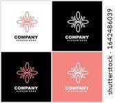 abstract elegant flower logo... | Shutterstock .eps vector #1642486039
