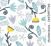 seamless repeat pattern with...   Shutterstock .eps vector #1642497766