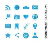 silhouette social media icons... | Shutterstock .eps vector #164251394