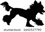 chinese crested dog silhouette... | Shutterstock .eps vector #1642527790