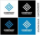 abstract technology logo... | Shutterstock .eps vector #1642549099