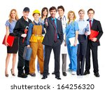 group of business people... | Shutterstock . vector #164256320