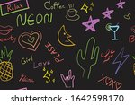 abstract hand drawn star heart... | Shutterstock .eps vector #1642598170