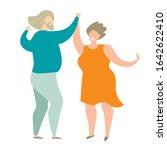 elderly people dancing vector... | Shutterstock .eps vector #1642622410