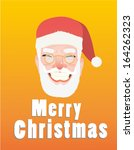 merry christmas card with santa | Shutterstock .eps vector #164262323