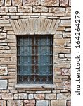 closed window of old building... | Shutterstock . vector #164264279