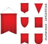 signal red long sport... | Shutterstock .eps vector #1642650166