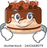 cool chocolate cake mascot... | Shutterstock .eps vector #1642668079