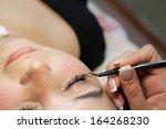 eyelash extensions  eyelash... | Shutterstock . vector #164268230