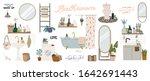 stylish scandinavian bathroom... | Shutterstock .eps vector #1642691443