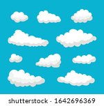 collection of blue clouds and... | Shutterstock .eps vector #1642696369