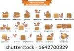 cute cat character in different ... | Shutterstock .eps vector #1642700329