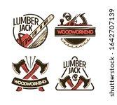 woodworking 2x2 design concept...   Shutterstock .eps vector #1642707139