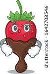 cool chocolate strawberry... | Shutterstock .eps vector #1642708546