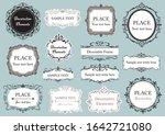 elegant frame design... | Shutterstock .eps vector #1642721080