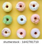 studio photo of nine beautiful... | Shutterstock . vector #1642781710