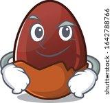 cool chocolate egg mascot... | Shutterstock .eps vector #1642788766