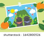 hand drawn illustration on the... | Shutterstock .eps vector #1642800526