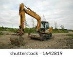 backhoe in construction site | Shutterstock . vector #1642819