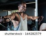 heavy duty. body builder... | Shutterstock . vector #164282579
