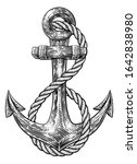 an anchor from a boat or ship... | Shutterstock . vector #1642838980