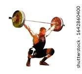 weightlifter lifting big... | Shutterstock .eps vector #1642860400