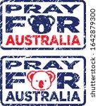pray for australia stamps in...   Shutterstock .eps vector #1642879300