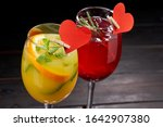 tasty cocktails for valentine... | Shutterstock . vector #1642907380