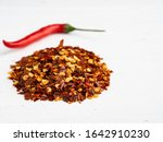 heap of red hot chili peppers... | Shutterstock . vector #1642910230