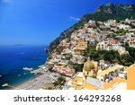 positano resort on the amalfi...   Shutterstock . vector #164293268