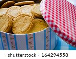 Tin Box With Crackers  Biscuits