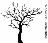 Tree Silhouettes. Vector...
