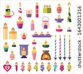 birthday cake and holiday... | Shutterstock .eps vector #1643001316
