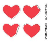 set of red hearts adhesive... | Shutterstock .eps vector #1643005933