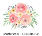 spring flowers decoration.pink... | Shutterstock . vector #1643006710