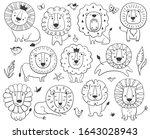 lions children set. kids...   Shutterstock .eps vector #1643028943