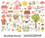 gardening and spring set  hand... | Shutterstock .eps vector #1643028949