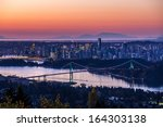 Stock photo vancouver city sunrise 164303138