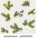 christmas decorative seamless... | Shutterstock . vector #164303924