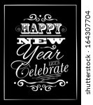 new year type poster... | Shutterstock .eps vector #164307704
