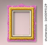 pink and gold vintage picture...   Shutterstock .eps vector #1643095129