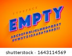 retro original 3d display font... | Shutterstock .eps vector #1643114569