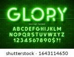 neon light 3d alphabet  extra... | Shutterstock .eps vector #1643114650