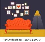 vector vintage retro interior... | Shutterstock .eps vector #164311970